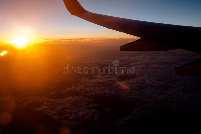 Widok od okno samolot fotografia royalty free