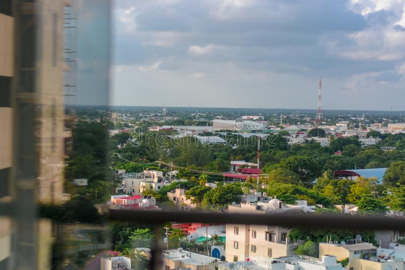 Widok od okno wysoki budynek obrazy stock