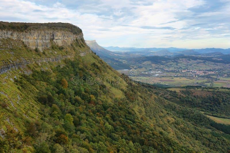 Widok od otaczań narodziny Nerviï ¿ ½ n rzeka, Spain obrazy stock