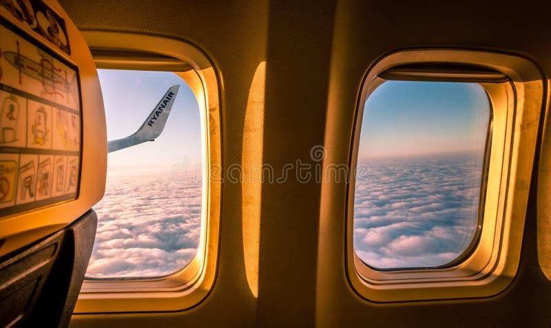 Widok od płaskiego okno obraz royalty free