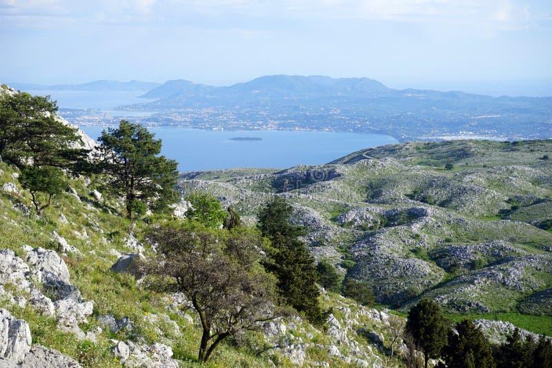 Widok od Pantsakrator fotografia stock