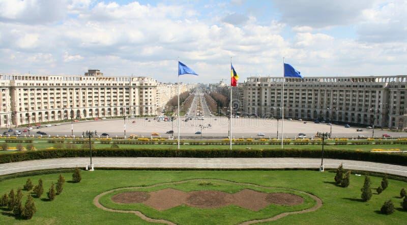 Widok od parlamentu pałac fotografia royalty free