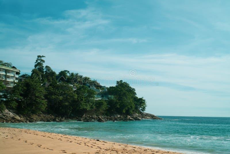 Widok od plaży na hotelu fotografia royalty free