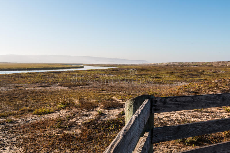 Widok Od punktu obserwacyjnego punktu Estuarine Tijuana rzeka zdjęcie royalty free