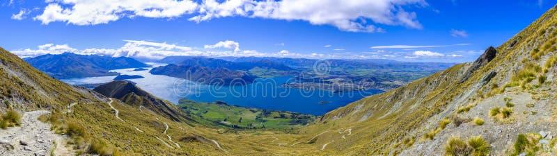 Widok od Roys szczytu blisko Wanaka zdjęcia royalty free