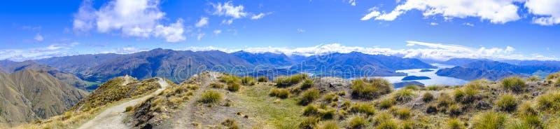 Widok od Roys szczytu blisko Wanaka zdjęcie stock
