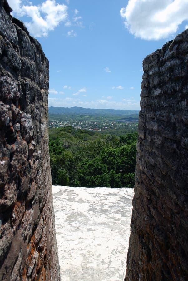 Widok od ruin zdjęcia royalty free