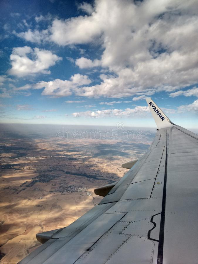 Widok od Ryanair samolotu obraz stock