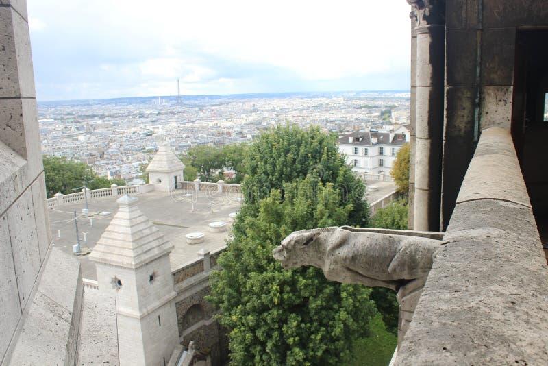 Widok od Sacré Coeur na dachach Paryż i wieża eifla zdjęcie stock
