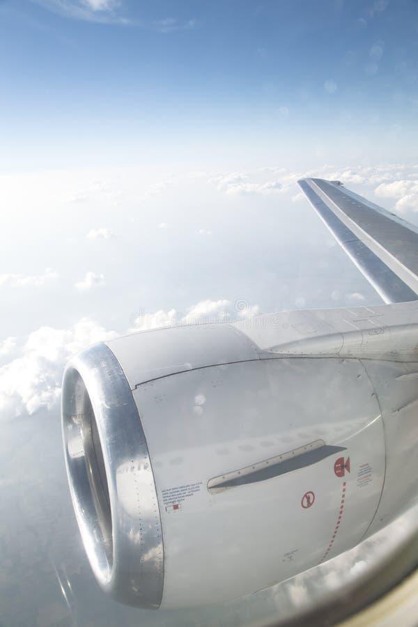 Widok od samolotowego okno obraz royalty free
