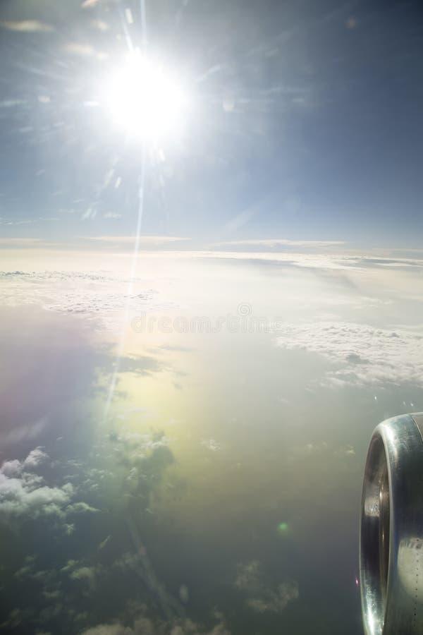 Widok od samolotowego okno zdjęcia royalty free