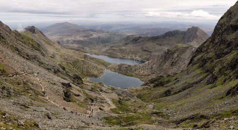 Widok od Snowdon obrazy stock