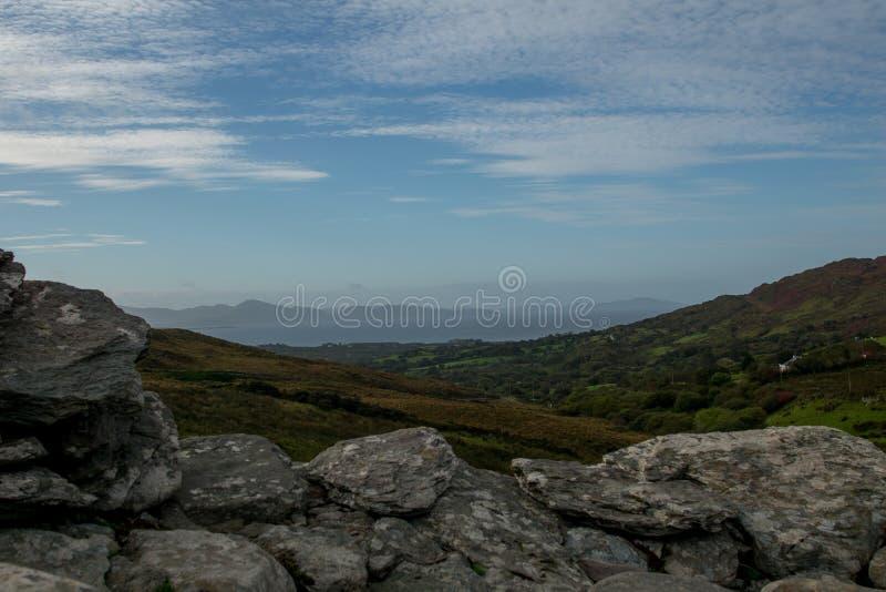 Widok od staigue fortu w Ireland fotografia stock
