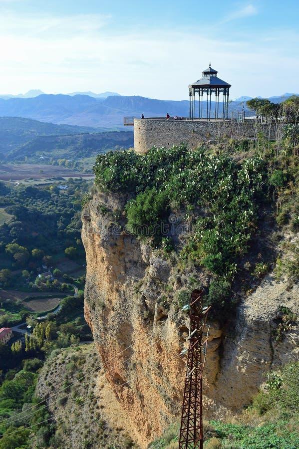 Widok od starego miasteczka w kierunku gazebo i punktu widzenia zdjęcia royalty free