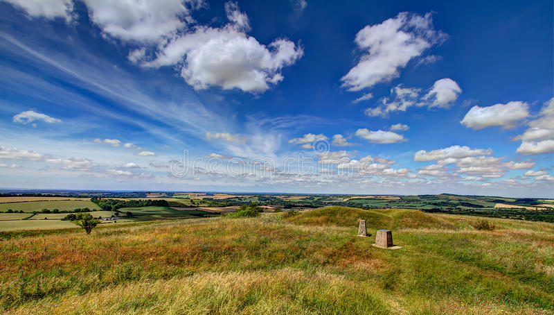 Widok od Starego Winchester wzgórza fotografia royalty free