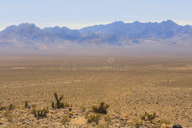 Widok od starych hiszpańszczyzn Wlec autostradę, Nevada, usa obraz stock