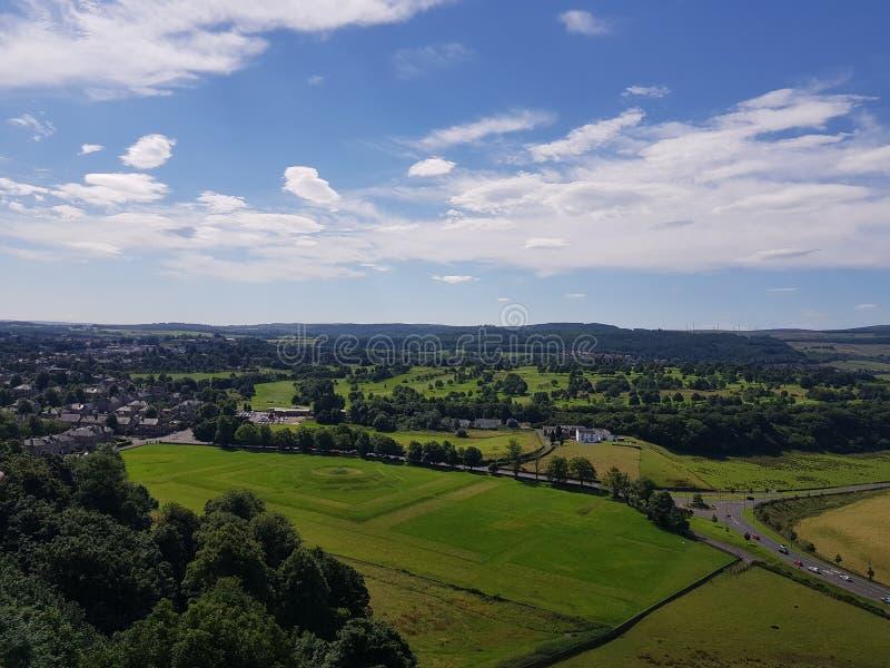 Widok od Stirling kasztelu zdjęcie royalty free