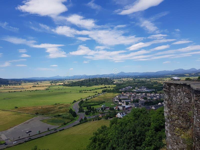 Widok od Stirling kasztelu obrazy stock