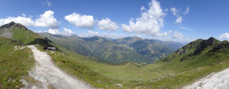 Widok od Stubnerkogel, Zły Gastein, Almorama, Salzburg, Austria zdjęcia stock