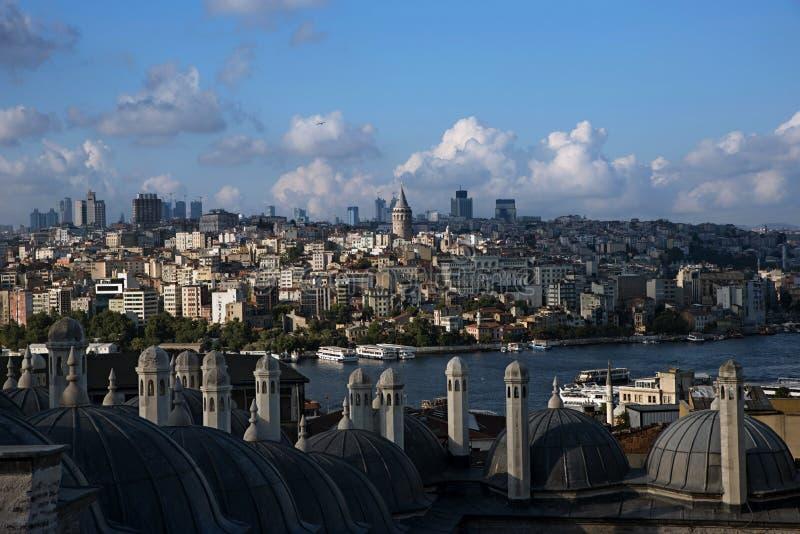 Widok od Suleymaniye meczetu nad Istanbuł fotografia stock