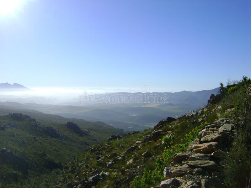 Widok od Swartberg przepustki fotografia royalty free