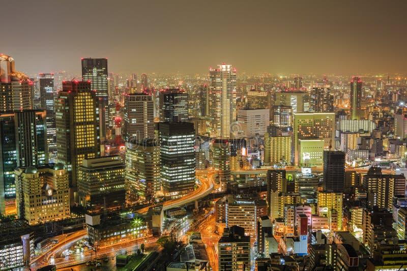 Widok od Umeda nieba budynku, Osaka, Japonia obraz royalty free