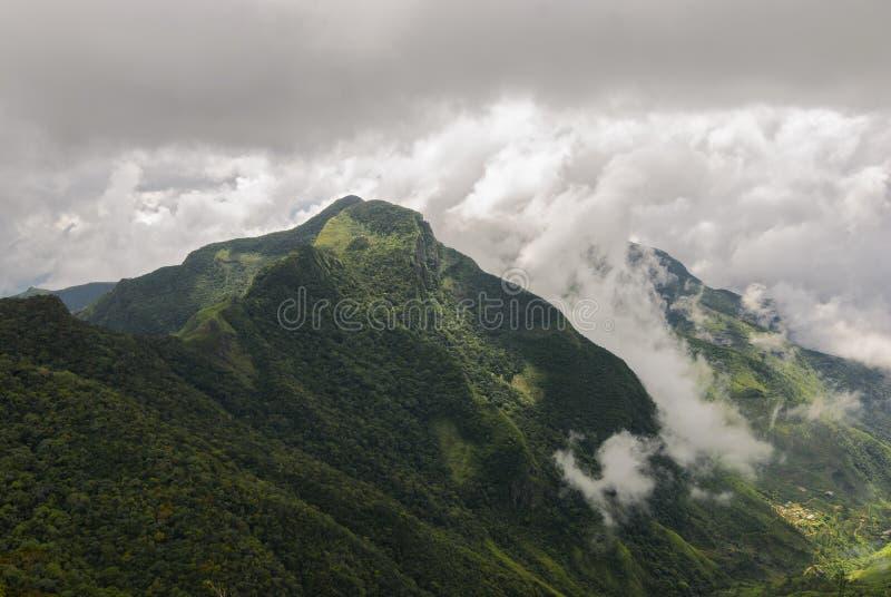 Widok od World& x27; s końcówka w Horton równiien parku narodowym obrazy royalty free