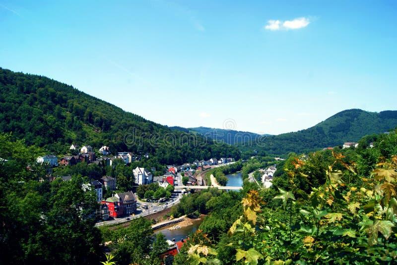 Widok od wzgórza miasto Altena zdjęcia royalty free