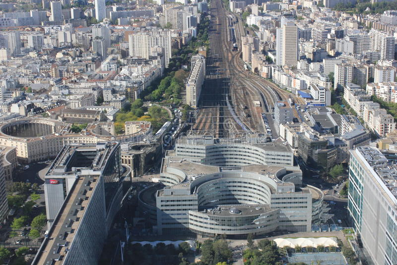 Widok od wzrosta w Paryż fotografia royalty free