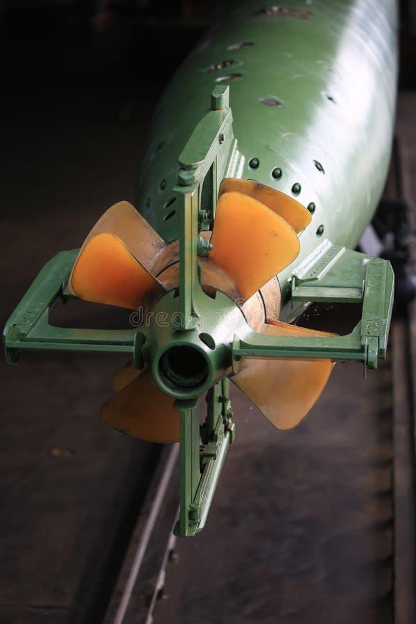 Widok ogon część rosjanin 533 mm petardy zakończenie fotografia royalty free