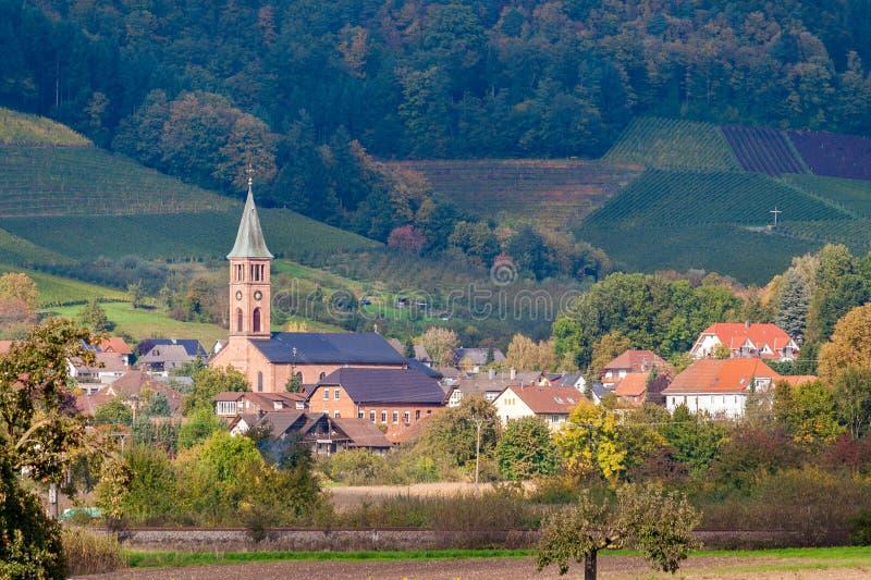 Widok Ohlsbach miasteczko w Czarnym lesie zdjęcie royalty free