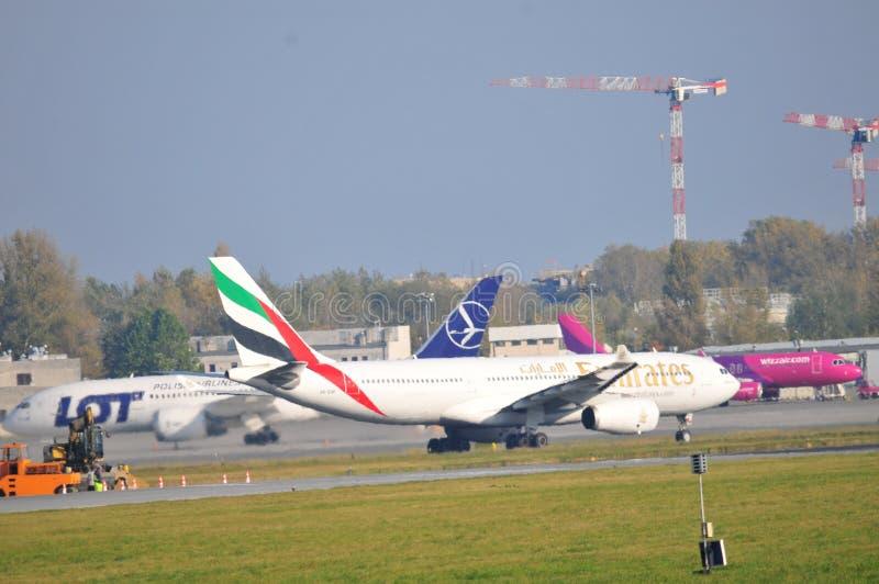 Widok Okecie lotnisko w Warszawa fotografia royalty free