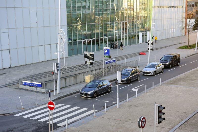 Widok okręg Boulogne Billancourt zdjęcia stock