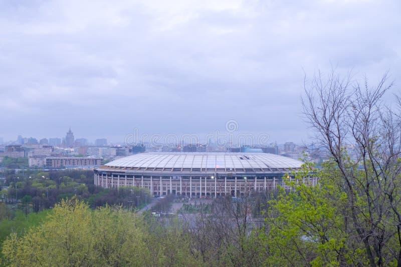 Widok Olimpijski stadium Luzhniki w Moskwa, Rosja obraz stock