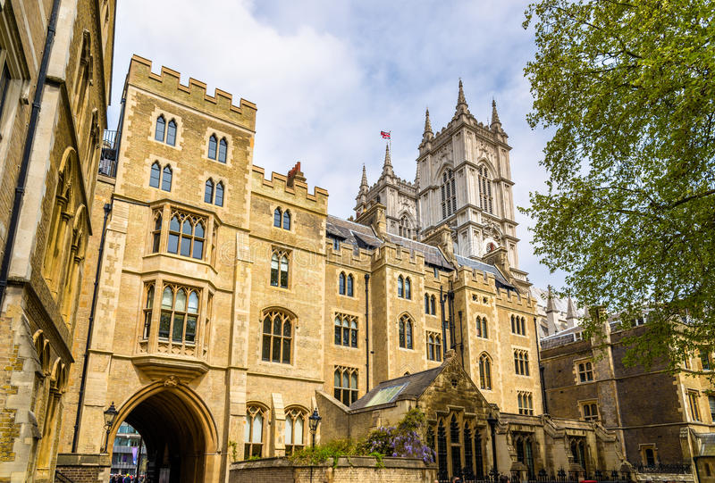 Widok opactwo abbey w Londyn zdjęcia royalty free