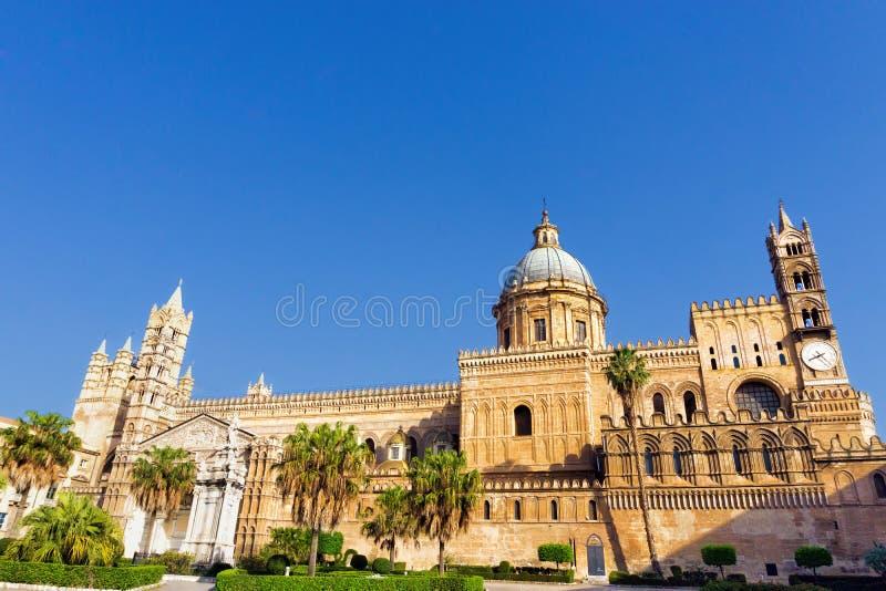 Widok Palermo katedra w Palermo, Włochy obraz royalty free