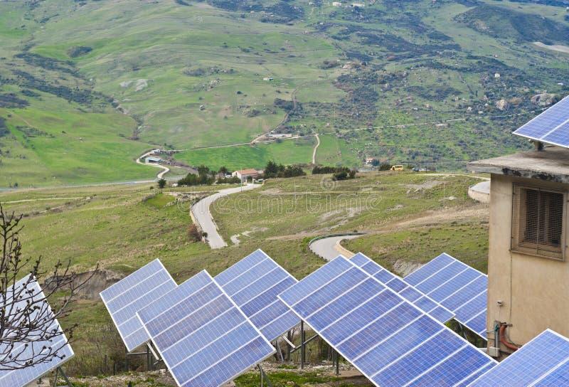 Widok Panel Słoneczny W Madonie Górach Zdjęcia Stock