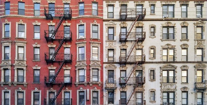 Widok panoramiczny na zabytkowe mieszkanie w Nowym Jorku obraz royalty free