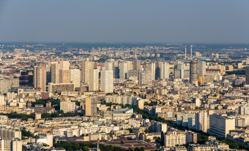 Widok Paryż od Maine wierza fotografia stock