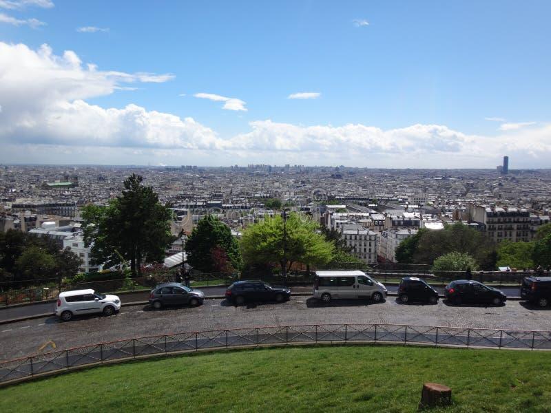 Widok Paryż od Montmartre w Francja zdjęcia stock