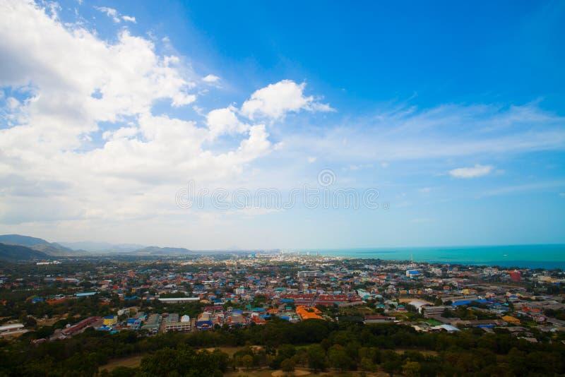 Widok Pattaya miasta plaża przy punktem widzenia zdjęcia royalty free