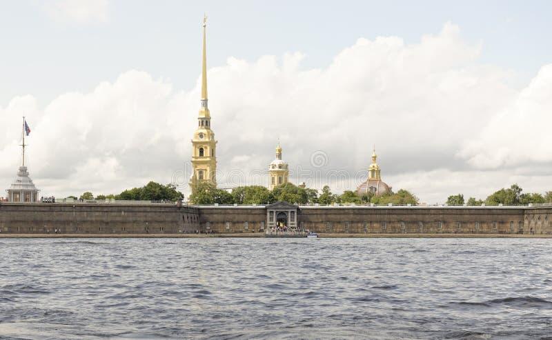 Widok Peter i Paul forteca w St Petersburg fotografia stock