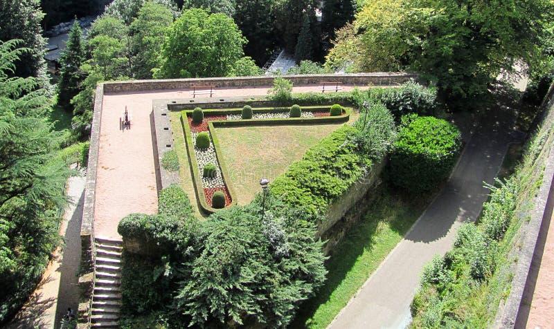 Widok Petrusse park w Luksemburg mieście fotografia stock