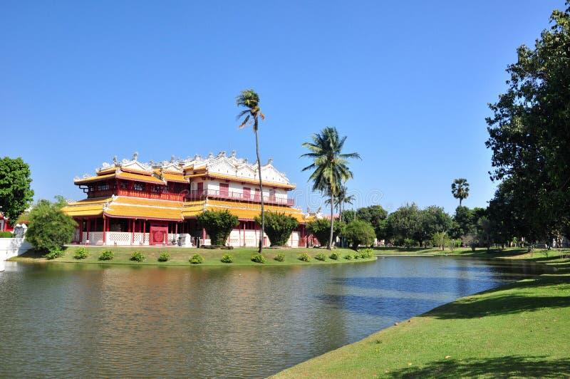 Widok Phra Thinang Wehart Chamrun w uderzeniu w obrazy royalty free