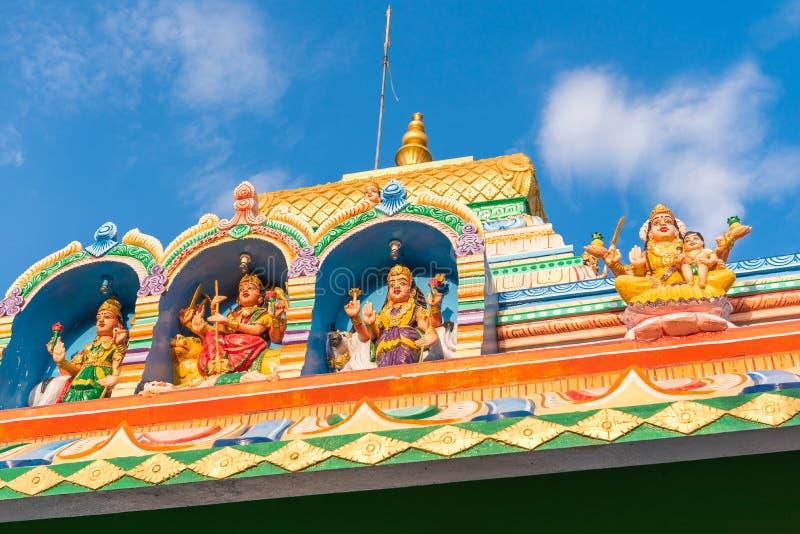 Widok piękny Indiański budynek, Puttaparthi, Andhra Pradesh, India Zakończenie zdjęcia royalty free