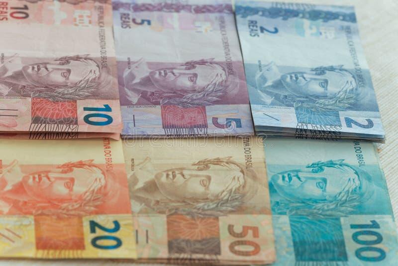 Widok pieniądze, reais Brazylia/ obrazy royalty free