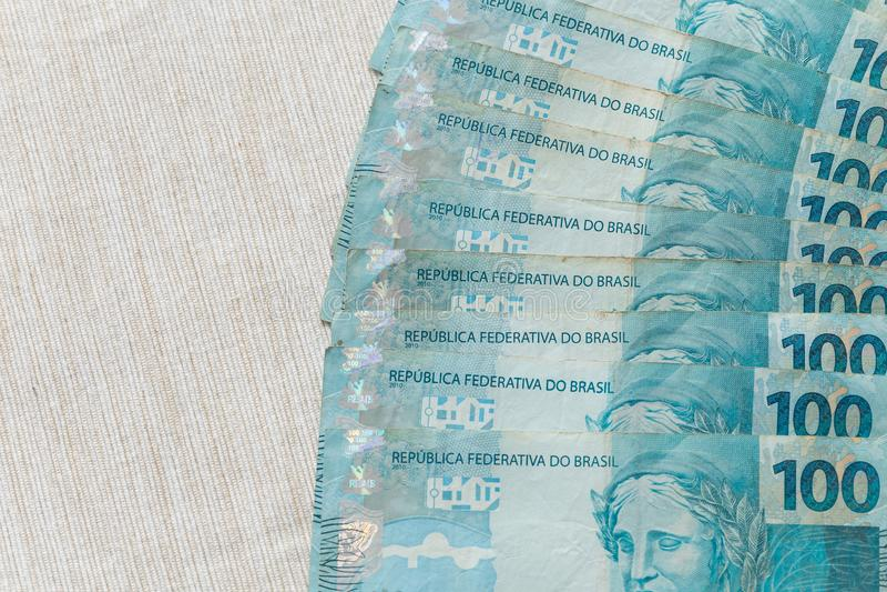 Widok pieniądze, reais Brazylia/ zdjęcia royalty free