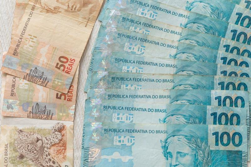 Widok pieniądze, reais Brazylijscy/ fotografia stock