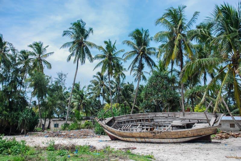 Widok plaża Zanzabar wyspa zdjęcie stock