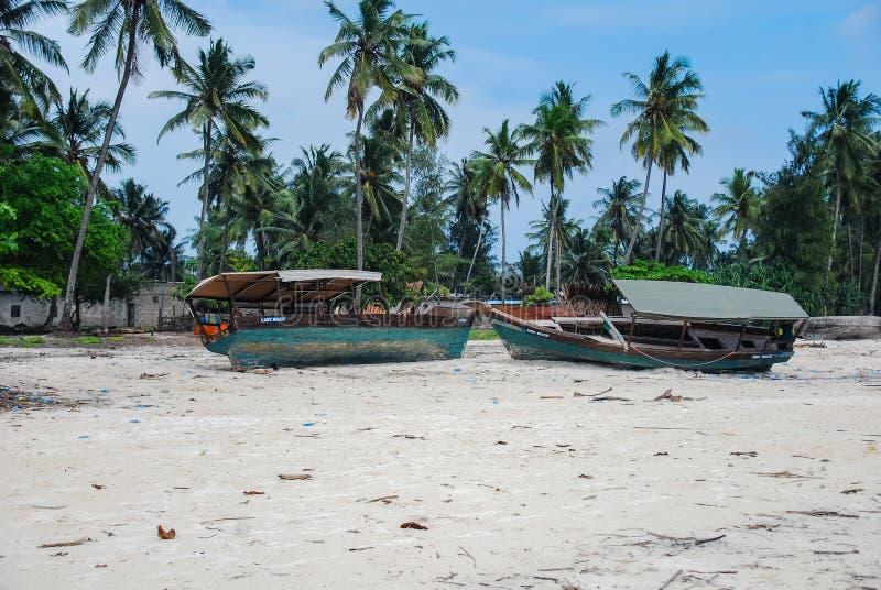 Widok plaża Zanzabar wyspa obrazy royalty free